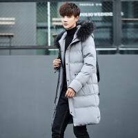 男装棉衣学生外套男韩版修身中长款加厚棉袄冬季帅气男装男款棉服冬装