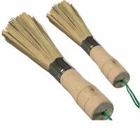 竹子椰棕洗锅刷锅刷子 厨房神器长柄清洁刷 不沾油洗碗竹刷把