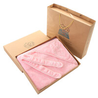 婴儿抱被礼盒宝宝毛毯双层加厚秋冬季外出包被新生儿抱毯