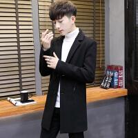 男士毛呢大衣青年韩版中长款羊毛呢子大衣外套潮2017秋冬装风衣