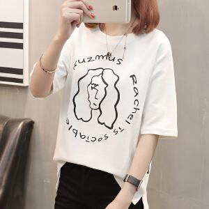 AGECENTRE t恤女短袖2018新款韩版学生夏天衣服时尚上衣半袖T恤