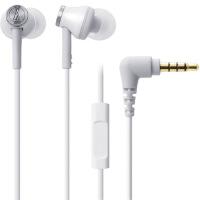 【支持礼品卡】铁三角(audio-technica) ATH-CK330iS WH 智能型手机专用耳塞式通话耳机 时尚