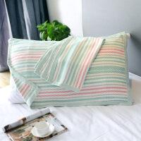 竹纤维长枕巾一对情侣欧式夏季清凉儿童枕头垫巾非棉