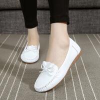 简约平底透气镂空女鞋孕妇妈妈凉鞋护士鞋白色夏季2018新款洞洞鞋