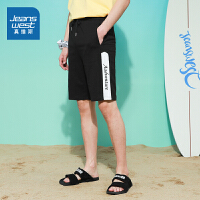 真维斯男装 2021夏装新款 时尚CVC小毛圈修身型短裤