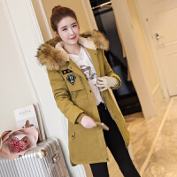 棉衣女冬装女装韩版修身显瘦中长款羊羔毛加厚大码外套潮