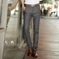 秋冬款新款英伦男士修身西裤加绒加厚韩版休闲裤男式大码男裤