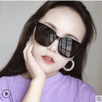 韩潮眼镜女明星同款方形墨镜ins平面镜太阳镜男女圆脸时尚太阳镜户外新品网红同款