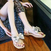 户外百搭女凉鞋时尚女士韩版休闲舒适平底鞋仙女风凉拖鞋