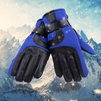 冬季保暖男士手套加绒加厚户外骑车手套防滑防寒滑雪手套男皮手套