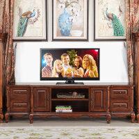 【限时直降3折】美式乡村实木电视柜茶几组合 欧式电视柜实木电视桌