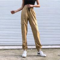 运动裤女宽松收口束脚显瘦休闲工装裤帅气薄款速干健身裤