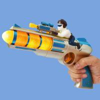 儿童电动玩具枪声光音乐旋转伸缩震动小孩卡通塑料玩具枪男宝3岁 696 声光震动