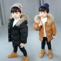 童装女童冬季棉袄儿童棉衣韩版加厚男童棉外套中小童毛领保暖