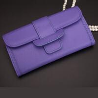 钱包女长款多功能皮夹子薄手包大容量手抓包手拿包 紫罗兰(可放5.5寸以内手机)