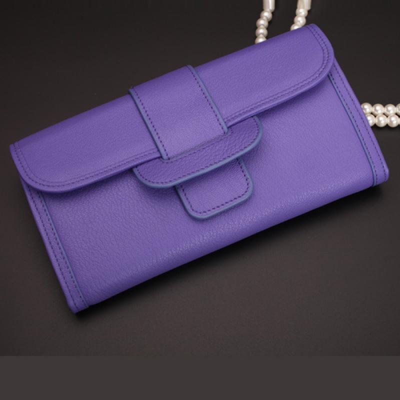 钱包女长款多功能皮夹子薄手包大容量手抓包手拿包 紫罗兰(可放5.5寸以内手机) 一般在付款后3-90天左右发货,具体发货时间请以与客服协商的时间为准