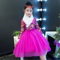 儿童宝宝周岁礼服加绒中国风女童演出服新款儿童旗袍裙冬长袖中式
