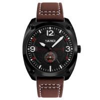 皮带男士石英手表防水个性商务腕表创意秒针时装男表大表盘