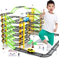 电动轨道车玩具小汽车男孩4岁男童百变多层过山车轨道玩具车套装