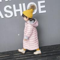 女童棉衣中长款过膝羽绒一岁半女宝宝冬装婴儿童外套