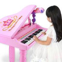 儿童钢琴玩具 3-6岁小女孩电子琴初学者充电弹奏话筒宝宝早教益智