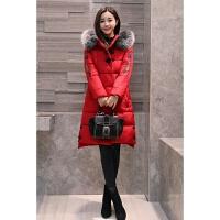 冬季女装外套 刺绣棉衣中长款韩版修身棉袄0斤大码加厚羽绒 大红色 颜色很正 关注店铺· 截图返2元