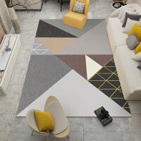 北欧现代简约几何客厅地毯 欧式沙发茶几垫家用卧室床边毯样板间