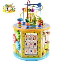 男孩一两岁宝宝玩具1-2-3周半早教力绕珠男女孩婴儿6个月儿童串珠 益智启蒙早教