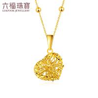 六福珠宝黄金项链吊坠女goldstyle系列吊坠不含链定价HMA15I70055