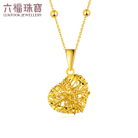 六福珠宝黄金项链吊坠女goldstyle系列心形吊坠不含链定价HMA15I70055A