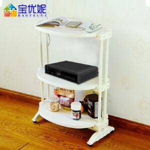 宝优妮 厨房用具置物架落地3层烤箱架锅架子收纳架厨房用品储物架