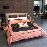 家纺高端床上四件套全棉纯棉双人情侣潮牌被套床单1.5m1.8米2.0欧美风