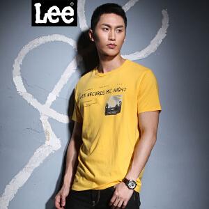 Lee 【断码】男士黄色简约后背印图短袖T恤LMY004J01Y7D