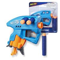孩之宝NERF热火迷你软弹枪纳米发射器亲子户外对战玩具枪男孩礼物