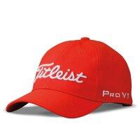 高尔夫儿童帽子男孩女孩夏季透气遮阳帽 青少年运动球帽 红色