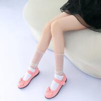 儿童丝袜 女童堆堆袜 夏季 超薄款 学生中筒袜 网眼袜 纯棉袜子潮