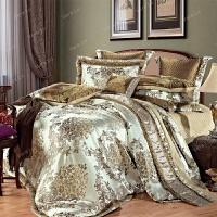 家纺家纺别墅床上用品四件套全棉六八十件套贡缎提花