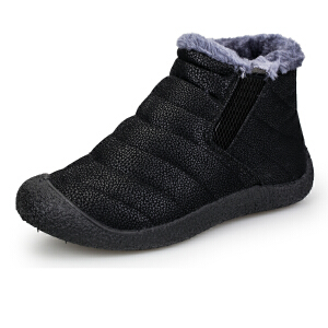 Mr.zuo雪地靴男鞋短筒短靴秋冬季防滑女鞋加厚保暖高帮棉鞋加绒棉靴子潮(偏小一码)