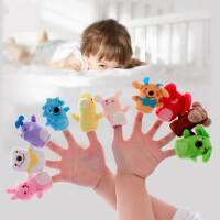 【支持礼品卡】婴儿手偶毛绒玩具0-1岁宝宝布艺指偶新生儿手偶手套玩偶v2a
