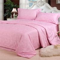 家纺床上用品纯棉四件套 全棉提花被套床品4件套双人被罩床单清仓