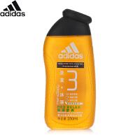 阿迪达斯 Adidas男士功能型香波沐浴露按摩舒爽250ml 洗发沐浴二合一