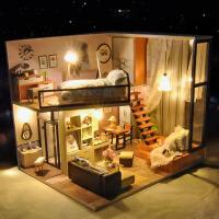创意房子模型拼装公主房礼物女浪漫北欧diy小屋手工制作别墅