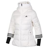 Adidas阿迪达斯 女子 运动羽绒服 户外连帽保暖运动羽绒外套 BQ8804