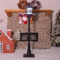 圣诞装饰品飘雪路灯大厅礼堂商场装饰摆件雪景路灯圣诞场景布置