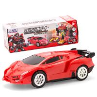 儿童电动玩具车变形汽车机器人万向音乐变形汽车男孩玩具礼物