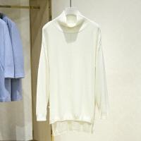 当季新款高领纯色休闲针织衫女冬装新款 长袖套头打底毛衫