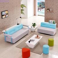 休闲办公沙发 现代简约办公室家具沙发茶几组合 布艺创意沙发会客 2 3组合