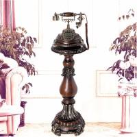 创意仿古电话机立式家居装饰品工艺品摆件 古典木