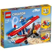 【当当自营】LEGO乐高超胆侠特技飞机 31076