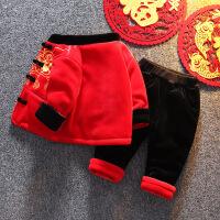 宝宝男童女婴儿童过年周岁衣服礼服冬季唐装套装新年装
